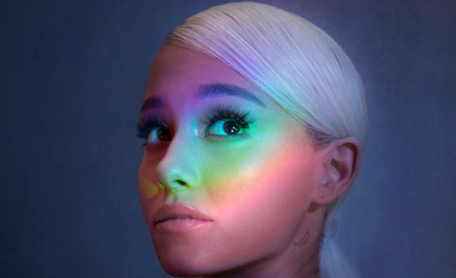 Ariana Grande surges to No.1 in singles chart